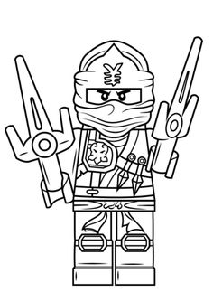 Lego Ninjago Jay ZX coloring page from Lego Ninjago category. Select from 20946 printable crafts of cartoons, nature, animals, Bible and many more.