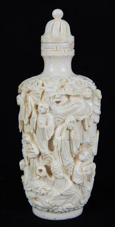 Chinese ivory perfume bottle
