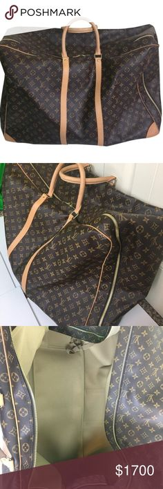 Louis Vuitton Monogram Sirius 60 Luggage Beautiful piece!! Used gently. Pen marks and corner scuffs shown in images. Not very noticeable! Louis Vuitton Bags Travel Bags