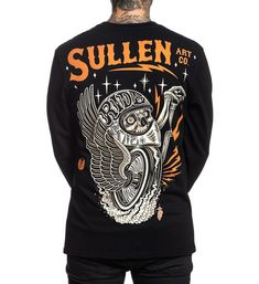 Sullen Art Co. New Artist Series tee's released every Tuesday. Tattoo T Shirts, Tee Shirts, Lifestyle Clothing, Women's Clothing, Widowmaker, Mens Flannel, Ufc, Mens Tees, Cool T Shirts
