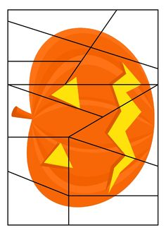 * Puzzel: Pumpkin! Halloween Poems, Theme Halloween, Halloween Math, Halloween Crafts For Kids, Halloween 2019, Holidays Halloween, Fall Preschool Activities, Thanksgiving Activities, Bricolage Halloween
