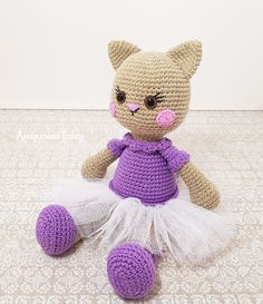 Ballerina Cat Doll Amigurumi - Free crochet pattern by Amigurumi Today
