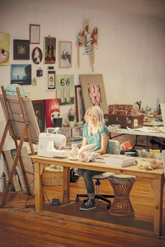 Adelaide artist Tiff Rysdale at Tooth and Nail Studios. As seen in the Adelaide* magazine's Youth Issue, June 2013. #Adelaide #Artist #creative #Art #ArtStudio