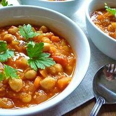 Chickpea Soup. Super savory.