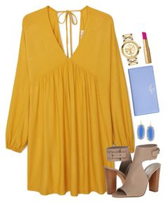 """""""church ootd """" by thatprepsterlibby ❤ liked on Polyvore featuring MANGO, Vince, Kendra Scott, Kate Spade, Tory Burch and Too Faced Cosmetics"""