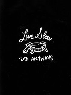 live slow die anyways