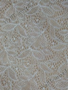Wedding fabric lace stretch lace fabric  floral by WellTrimmed