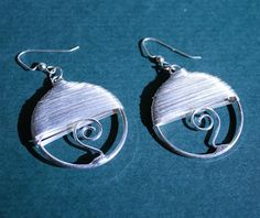 Silver Wire Wrap Earrings by MerelyEclectic on Etsy, $12.50