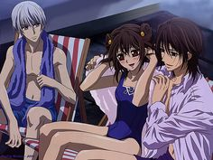 Zero, Yuuki, and Kaname