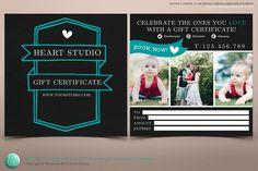 Modern Chalkboard Gift Certificate by FUN TENT DESIGN on @creativework247