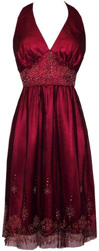 Red beaded embroidery gown - omg only $39.99