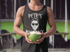 Bachelor Party Tanks Customized With The Groom's Face and Name by CustomWolfpack