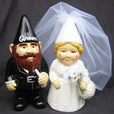 David Lisa The Gnomes Wedding Cake Topper 85 On Etsy Look Http Me R83mra I M Honestly Kind Of Horrified That Someone Had This Ide