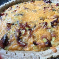 Ham and cheddar quiche tomorrow some by the slice at the #ridgewoodmarket #catering #leahsitalianapples #queens #queensNy #gottscheerhall #ridgewood #local #supportlocal #savory #sweet