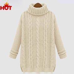 Women Winter Autumn Sweater 2015 Fashion Midi Pullover Casual ...
