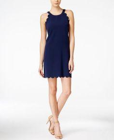 Maison Jules Scallop-Detail Shift Dress, Only at Macy's | macys.com