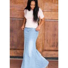 Apostolic Co. Light Mermaid Denim Skirt