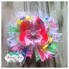 Cute as a Bug OTT Hair Bow on Etsy, $12.00