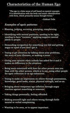 Ego/Narcissism - ways to identify egoistic people