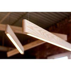 White Ash Line Light installation pc: Interior Lighting, Home Lighting, Modern Lighting, Lighting Design, Pendant Lighting, Custom Lighting, Lighting Ideas, Diy Luminaire, Diy Lampe