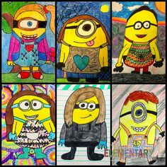 Minion Self Portraits | Elementary Art | Design a minion inspired by you! This would make a fun art sub lesson.