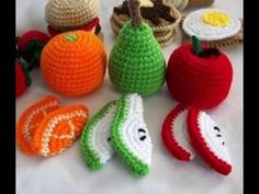 Crochet fruits - Frutas en crochet - YouTube