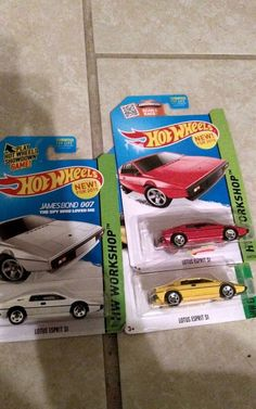 2015 Hot Wheels HW Exotics Lotus Esprit S1 Diecast Yellow 1:64 Unopened 3 Cars #Mattel #Lotus