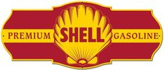 Premium Shell Gasoline Sign, Your Choice New OR Grunge Style x Metal Advertising Vintage Reproduction Gas Oil Garage Art Wall Decor by HomeDecorGarageArt on Etsy Grunge Style, Shell Gas Station, Vintage Metal Signs, Logo Vintage, Antique Signs, Garage Art, Garage Signs, Old Signs, New Sign