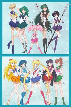 All Sailor Senshi by SM Crystal III