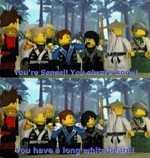 Thats the wort reason to say that he know everything--correction, in Ninjago, it is the BEST reason!