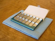 pocket watercolor palette with removeable magnetic wells. aceo size