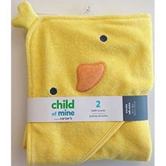 Child Of Mine by Carters Newborn Baby Boy or Girl Unisex Hooded Towel -- Check out this great product.-It is an affiliate link to Amazon.
