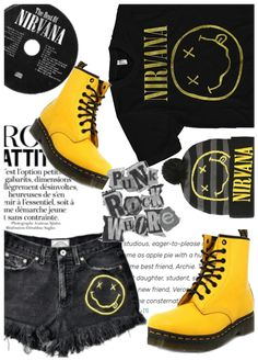 Discover outfit ideas for Trend: Rock A Concert Tee made with the shoplook outfit maker. How to wear ideas for Rock Attitude Quote and ! Polyvore Casual, Polyvore Dress, Polyvore Outfits, Polyvore Fashion, Rock Chic Outfits, Grunge Outfits, Casual Outfits, Fashion Outfits, Concert Tees