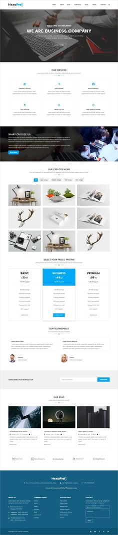 Hexapro is an awesome design 5in1 responsive #WordPress theme for #corporate, business, agency blog or #company websites download now➩ https://themeforest.net/item/hexapro-corporate-wordpress-theme/19309571?ref=Datasata