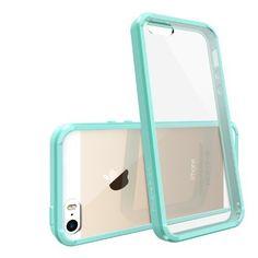 RINGKE FUSION Apple iPhone 5S Case Bumper Hülle [MINT] Best Selling Shock Absorption Bumper + Anti Scratch Clear Back Premium Hybrid Case for Apple iPhone 5 / 5S Hülle asche Schutzhülle [Eco/DIY Package]:Amazon.de:Elektronik