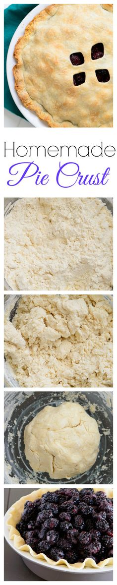 Easy homemade pie crust that is flaky, buttery, and perfect every time.