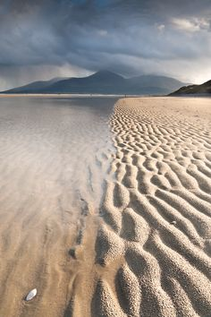 Murlough Beach near Newcastle County Down, with the Mourne mountains in the distance.