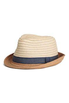 Chapeau de paille - Naturel - ENFANT   H&M FR 1