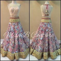 Ka-Bloom, floral print lehenga by MischB Couture