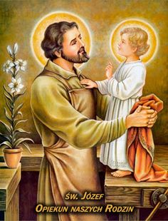 Beautiful Catholic image of Baby Jesus and Saint Joseph husband of Virgin Mary, Foster Father of Jesus,in Joseph's carpentry workshop. I love how patient and loving Joseph is. Catholic Art, Catholic Saints, Catholic Online, Catholic Religion, Roman Catholic, Religious Images, Religious Art, Blessed Virgin Mary, Holy Family