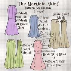 The best DIY projects & DIY ideas and tutorials: sewing, paper craft, DIY. DIY Clothing & Tutorials well-suited: Pattern Puzzle - The Morticia Skirt -Read Sewing Hacks, Sewing Tutorials, Sewing Crafts, Sewing Projects, Dress Tutorials, Techniques Couture, Sewing Techniques, Pdf Sewing Patterns, Free Sewing