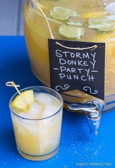Stormy Donkey Party Punch - Large Batch Cocktail for Summer & Fall Parties…