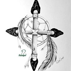 """Dream Catcher """"Choctaw Nation"""".. Improved design and future tattoo Drawing by ilusqui - artist Diana Carbajal"""