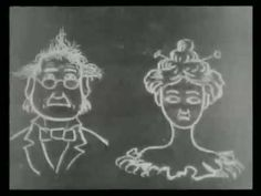 """J. Stuart Blackton, issued a short film in 1906 entitled Humourous Phases of Funny Faces where he drew comical faces on a blackboard, photographed them, and the erased it to draw another stage of the facial expression. This """"stop-motion"""" effect astonished audiences by making drawings comes to life."""
