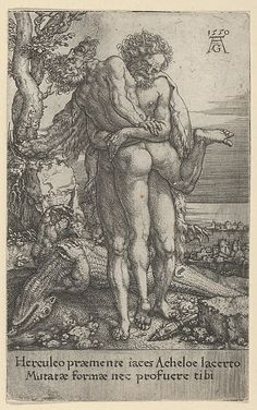 Hercules Fighting the River-God Achelous, from The Labors of Hercules (1550)