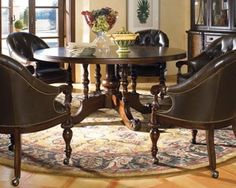 Thomasville Furniture Ernest Hemingway Lillas Round Dining Table $999