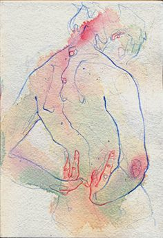Adara Sanchez Anguiano nude female posterior back mixed media painting Life Drawing, Figure Drawing, Painting & Drawing, Drawing Style, Art And Illustration, Adara Sanchez Anguiano, Figurative Art, Love Art, Art Inspo