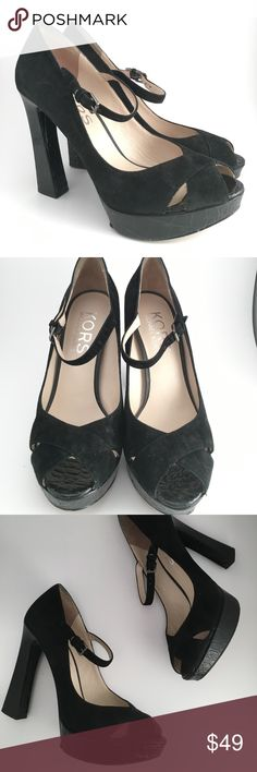 MICHAEL Michael Kors Peep Toe Pumps/ Heels ✨✨ Perfect Heels by Michael Kors ✨✨  Size 8 Note: Condition>>> pre owed. Have minor signs of wear in the bottom. Other than that beautiful Heels ✨   More details Soon!   New Item posted 2/4/18 ✨ No Trades Michael Kors Shoes Heels