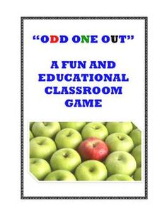 """FREE! We used to play a fun language arts game called """"Odd One Out"""" with our teachers at school long ago, and I have put together a description of this highly engaging and challenging game as well as some examples to help you and your class enjoy this same activity."""