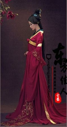 Find More Chinese Folk Dance Information about Yu Meng Red Tang Suit High Waist Ruqun Tang Costume Palace Maid Photography or TV Play Costume for Women,High Qu Traditional Fashion, Traditional Dresses, Traditional Chinese, Hanfu, Asian Fashion, Boho Fashion, Fashion Vintage, Trendy Fashion, Style Fashion